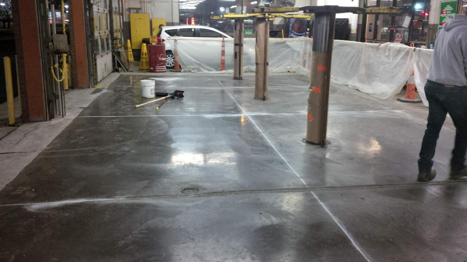 Columbus emergency service call concrete replacement