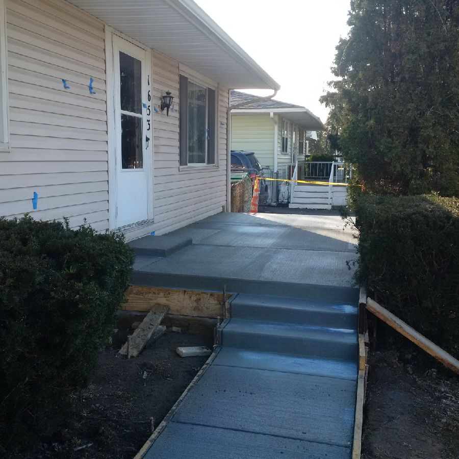 Residential Porch Residential Concrete Contractors